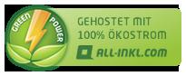 Mit Ökostrom gehostete Website